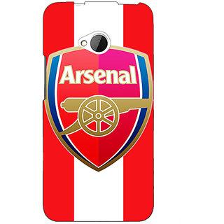 1 Crazy Designer Arsenal Back Cover Case For HTC One M7 C190509