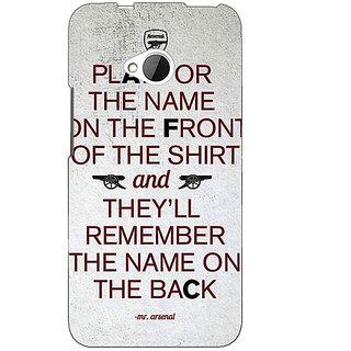 1 Crazy Designer Arsenal Back Cover Case For HTC One M7 C190512