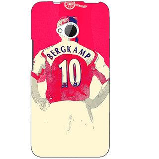 1 Crazy Designer Arsenal Dennis Bergkamp Back Cover Case For HTC One M7 C190513