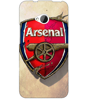 1 Crazy Designer Arsenal Back Cover Case For HTC One M7 C190515