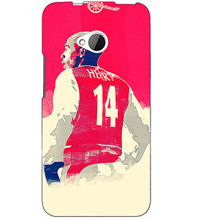 1 Crazy Designer Arsenal Therry Henry Back Cover Case For HTC One M7 C190517