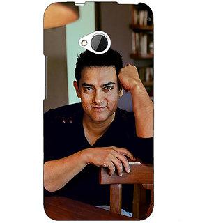 1 Crazy Designer Bollywood Superstar Aamir Khan Back Cover Case For HTC One M7 C190915