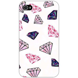 1 Crazy Designer Diamond Back Cover Case For Apple iPhone 4 C10088