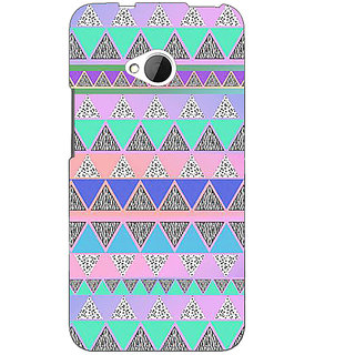 1 Crazy Designer Aztec Girly Tribal Back Cover Case For HTC One M7 C190068