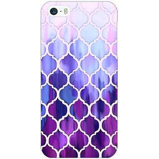 1 Crazy Designer White Purple Moroccan Tiles Pattern Back Cover Case For Apple iPhone 5 C20297
