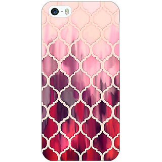 1 Crazy Designer White Red Moroccan Tiles Pattern Back Cover Case For Apple iPhone 5 C20299