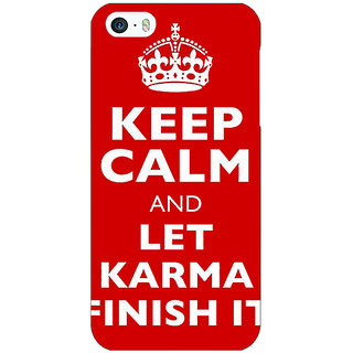 1 Crazy Designer Karma Quote Back Cover Case For Apple iPhone 5 C21321
