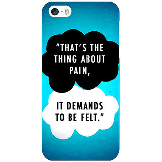 1 Crazy Designer TFIOS Thats the thing about Pain  Back Cover Case For Apple iPhone 5c C30105