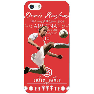 1 Crazy Designer Arsenal Dennis Bergkamp Back Cover Case For Apple iPhone 5c C30501