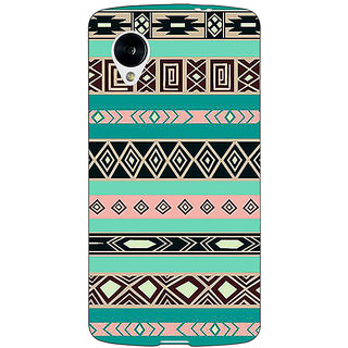 1 Crazy Designer Aztec Girly Tribal Back Cover Case For Google Nexus 5 C40065