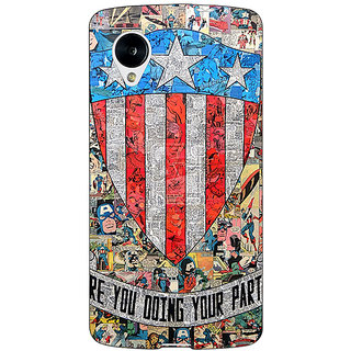 1 Crazy Designer Superheroes Captain America Back Cover Case For Google Nexus 5 C40333