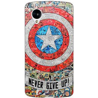 1 Crazy Designer Superheroes Captain America Back Cover Case For Google Nexus 5 C40334