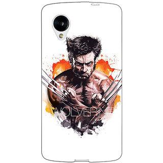 1 Crazy Designer Superheroes Wolverine Back Cover Case For Google Nexus 5 C40335