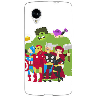 1 Crazy Designer Superheroes Baby Avengers Back Cover Case For Google Nexus 5 C40337
