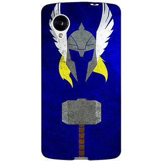 1 Crazy Designer Superheroes Thor Back Cover Case For Google Nexus 5 C40338