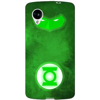 1 Crazy Designer Superheroes Green Lantern Back Cover Case For Google Nexus 5 C40339