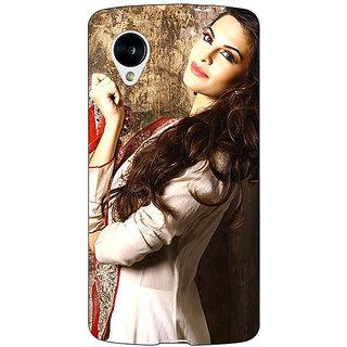 1 Crazy Designer Bollywood Superstar Jacqueline Fernandez Back Cover Case For Google Nexus 5 C41044
