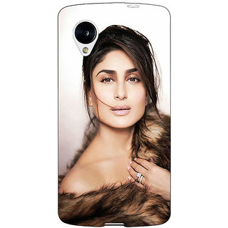 1 Crazy Designer Bollywood Superstar Kareena Kapoor Back Cover Case For Google Nexus 5 C41045