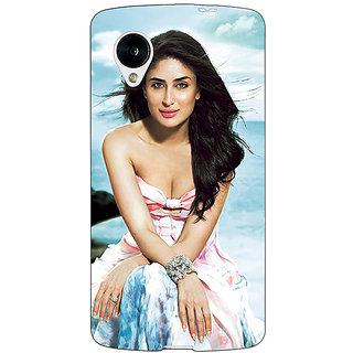 1 Crazy Designer Bollywood Superstar Kareena Kapoor Back Cover Case For Google Nexus 5 C41047