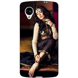 1 Crazy Designer Bollywood Superstar Nargis Fakhri Back Cover Case For Google Nexus 5 C41049