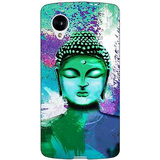 1 Crazy Designer Gautam Buddha Back Cover Case For Google Nexus 5 C41265