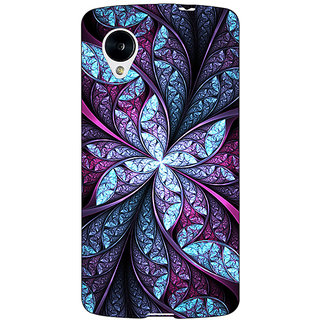 1 Crazy Designer Abstract Flower Pattern Back Cover Case For Google Nexus 5 C41520