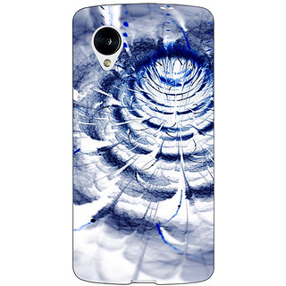 1 Crazy Designer Abstract Flower Pattern Back Cover Case For Google Nexus 5 C41521