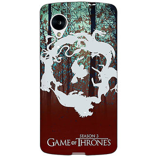 1 Crazy Designer Game Of Thrones GOT Houses Back Cover Case For Google Nexus 5 C41527