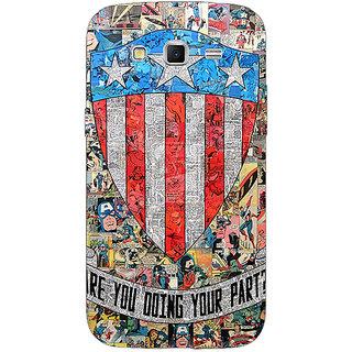1 Crazy Designer Superheroes Captain America Back Cover Case For Samsung Galaxy Grand 2 C70333