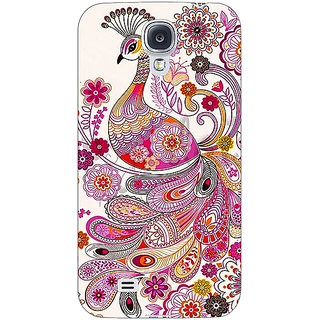 1 Crazy Designer Paisley Beautiful Peacock Back Cover Case For Samsung Galaxy S4 I9500 C61584