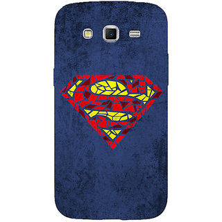 1 Crazy Designer Superheroes Superman Back Cover Case For Samsung Galaxy Grand 2 C70381