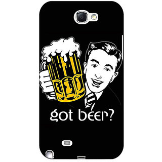 1 Crazy Designer Beer Quote Back Cover Case For Samsung Galaxy Note 2 N7100 C81251