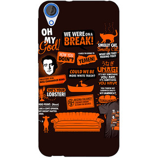 1 Crazy Designer FRIENDS Back Cover Case For HTC Desire 820Q C290449