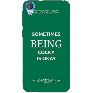 1 Crazy Designer SUITS Quotes Back Cover Case For HTC Desire 820Q C290479