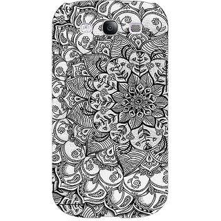 1 Crazy Designer Black And White Doodle Pattern Back Cover Case For Samsung Galaxy Grand Duos I9082 C100215