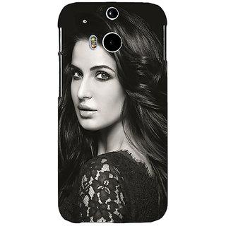 1 Crazy Designer Bollywood Superstar Katrina Kaif Back Cover Case For HTC One M8 C141005