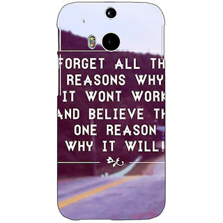 1 Crazy Designer Wise Quote Back Cover Case For HTC One M8 C141158
