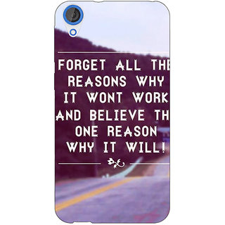 1 Crazy Designer Wise Quote Back Cover Case For HTC Desire 820 Dual Sim C301158