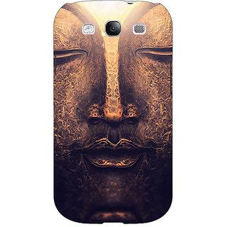 1 Crazy Designer Gautam Buddha Back Cover Case For Samsung Galaxy S3 C51273