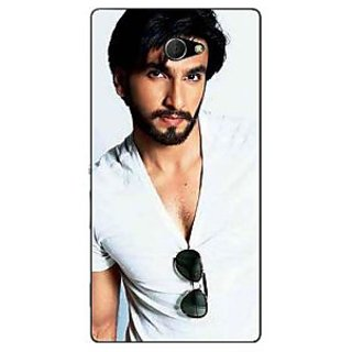 1 Crazy Designer Bollywood Superstar Ranveer Singh Back Cover Case For Sony Xperia M2 C310957