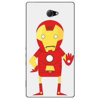 1 Crazy Designer Superheroes Iron Man Back Cover Case For Sony Xperia M2 Dual C320329