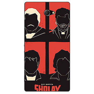 1 Crazy Designer Bollywood Superstar Sholay Back Cover Case For Sony Xperia M2 Dual C321124