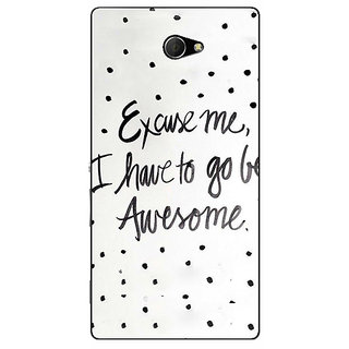 1 Crazy Designer Quote Back Cover Case For Sony Xperia M2 Dual C321351