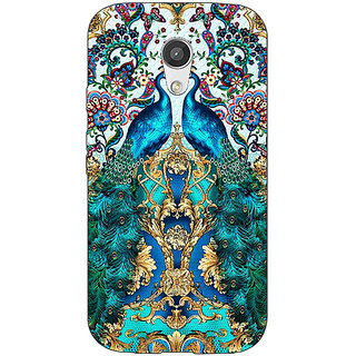 1 Crazy Designer Paisley Beautiful Peacock Back Cover Case For Moto G (2nd Gen) C201593
