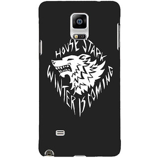 1 Crazy Designer Game Of Thrones GOT House Stark  Back Cover Case For Samsung Galaxy Note 4 C210121