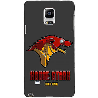1 Crazy Designer Game Of Thrones GOT House Stark  Back Cover Case For Samsung Galaxy Note 4 C210126