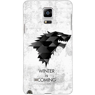 1 Crazy Designer Game Of Thrones GOT House Stark  Back Cover Case For Samsung Galaxy Note 4 C210130
