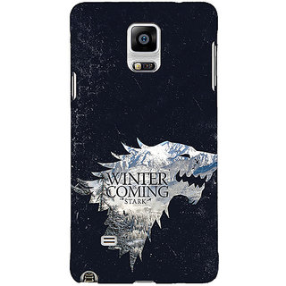 1 Crazy Designer Game Of Thrones GOT House Stark  Back Cover Case For Samsung Galaxy Note 4 C210131