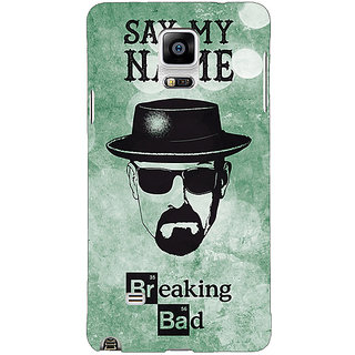 1 Crazy Designer Breaking Bad Heisenberg Back Cover Case For Samsung Galaxy Note 4 C210412