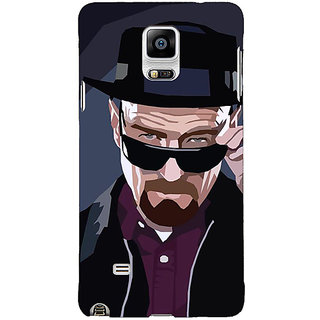 1 Crazy Designer Breaking Bad Heisenberg Back Cover Case For Samsung Galaxy Note 4 C210416